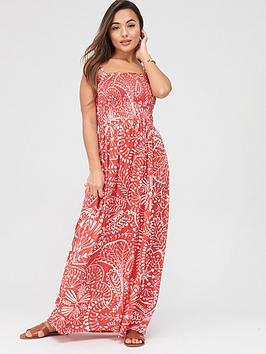Pour Moi Pour Moi Removable Straps Maxi Dress - Red Picture