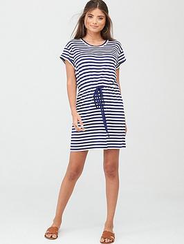 Pour Moi Pour Moi Jersey T-Shirt Dress - Navy/White Picture