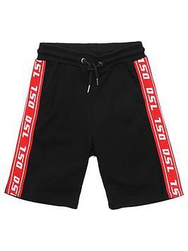 diesel-boys-tape-logo-jersey-short