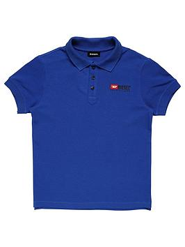 Diesel Diesel Boys Classic Short Sleeve Polo - Blue Picture