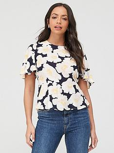 warehouse-nicky-floral-top-multi