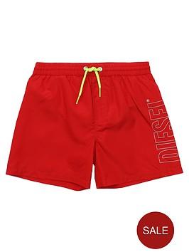 diesel-boys-classic-logo-swim-short-red