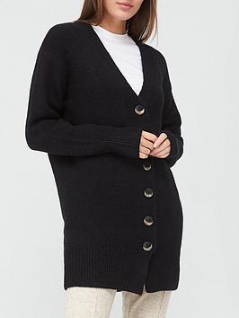 v-by-very-longline-button-up-cardigan-black