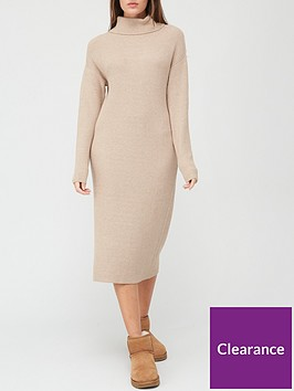 v-by-very-roll-neck-relaxed-fit-knitted-dress-oatmeal