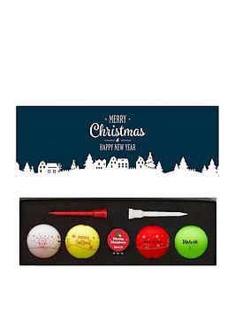 Volvik Volvik 4 Pack Volvik Christmas Golf Balls With Marker & Tees Picture