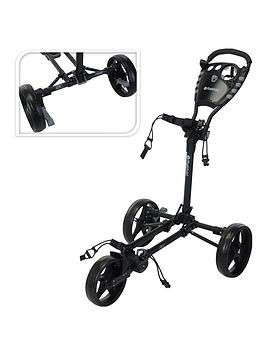 Fast Fold    Flat Golf Trolley Charcoal/Black