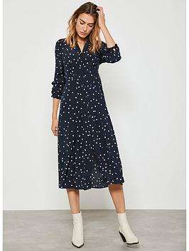 Mint Velvet Mint Velvet Spotted Shirt Midi Dress - Navy Picture