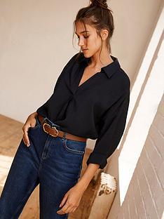 mint-velvet-oversized-shirt-navy