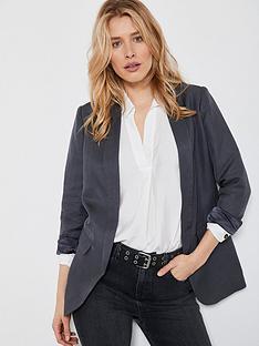 mint-velvet-smoke-shawl-collar-blazer-dark-grey
