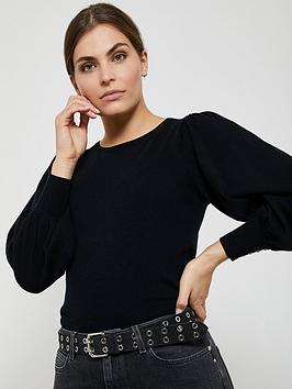 mint-velvet-volume-sleeve-jumper-black