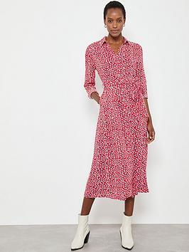Mint Velvet Mint Velvet Poppy Lips Midi Shirt Dress - Red Picture