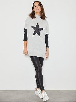 mint-velvet-stud-star-detail-tunic-grey