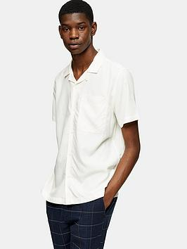 Topman Topman Eco Revere Collar Shirt - Off White Picture