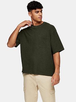 Topman Topman Oversized T-Shirt - Khaki Picture