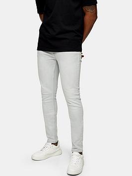 Topman Topman Light Wash Skinny Fit Jeans - Grey Picture
