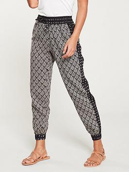 V by Very V By Very Tile Print Jogger - Monochrome Picture