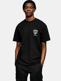 topman-tiger-skull-back-print-t-shirt-black