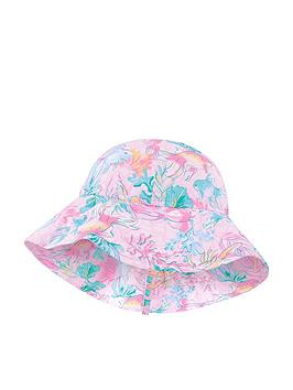 Monsoon Monsoon Baby Girls Dinah Sunsafe Hat - Pale Pink Picture