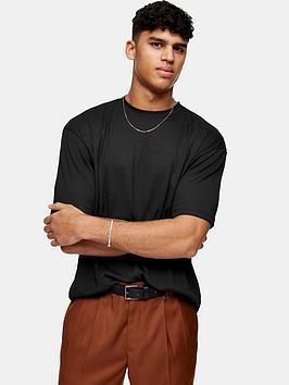 Topman Topman Rib Texture T-Shirt - Black Picture