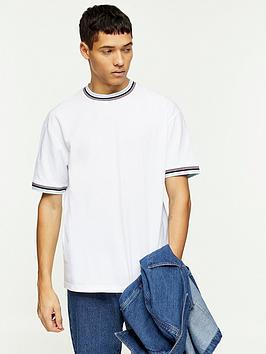 Topman Topman Tipped Pique T-Shirt - White Picture