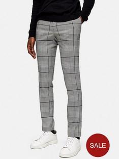 topman-large-check-trousers-grey