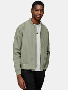 topman-ottoman-bomber-jacket-khakinbsp