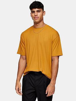 Topman Topman Rib Texture T-Shirt - Mustard Picture