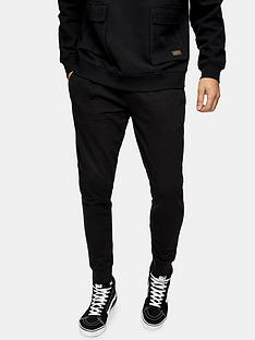 topman-skinny-marl-joggers-black