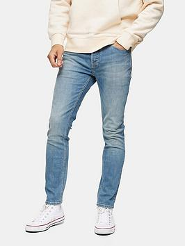 Topman Topman Washed Skinny Fit Jeans - Blue Picture
