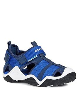 Geox Geox Boys Wader Closed Toe Sandals - Navy/Blue Picture