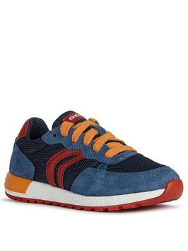 Geox Geox Boys Alben Lace Up Trainers - Blue/Red Picture