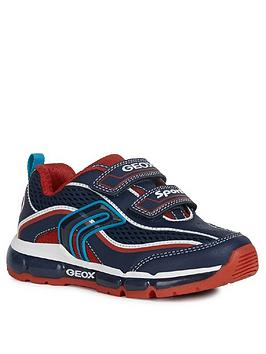Geox Geox Boys Android Strap Trainers - Navy/Red Picture