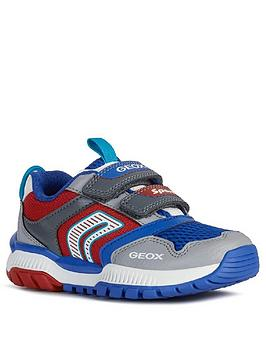 Geox Geox Boys Tuono Strap Trainers - Grey/Red Picture