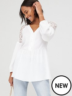 v-by-very-lace-shoulder-button-through-peplum-blouse-white