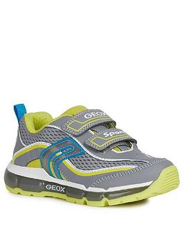Geox Geox Boys Android Strap Light-Up Trainers - Grey/Lime Picture