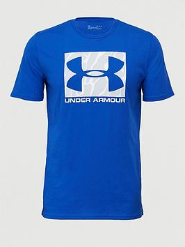 Under Armour Under Armour Camo Boxed Logo T-Shirt - Blue/Grey Picture