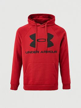 Under Armour Under Armour Rival Fleece Logo Overhead Hoodie - Burgundy Picture