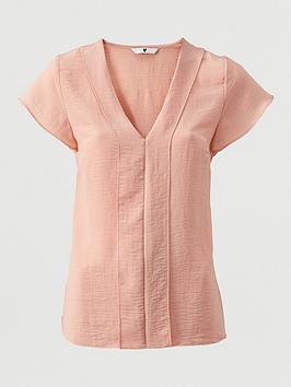 v-by-very-short-sleeve-v-neck-top-blush