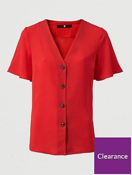 v-by-very-short-sleeve-v-neck-shirt-red