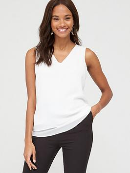 V by Very V By Very Essential Double Layer Vest - White Picture