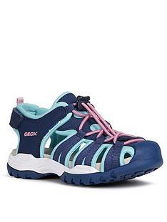 geox-girls-borealis-closed-toe-sandals-navy