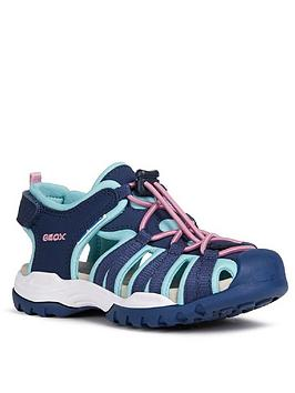 Geox Geox Girls Borealis Closed Toe Sandals - Navy Picture