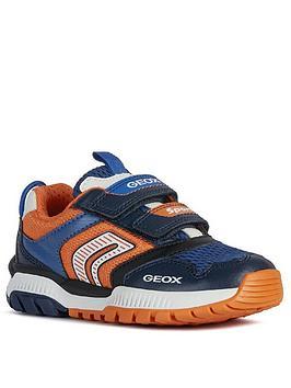 Geox Geox Boys Tuono Strap Trainers - Navy/Orange Picture