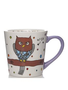 Very  Charlotte Reed May The Thoughts Be With You Owl Mug