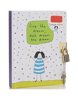 Very  Charlotte Reed Live The Dream Journal (Lockable)