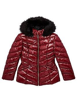 v-by-very-girls-shiny-faux-fur-trim-shower-proofnbsppadded-jacket-burgundy