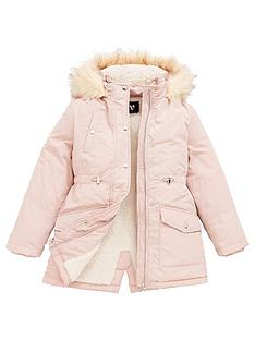 v-by-very-girls-shower-proofnbspfaux-fur-trim-parka-pink