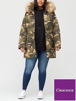 v-by-very-curve-faux-fur-trim-coat-camo