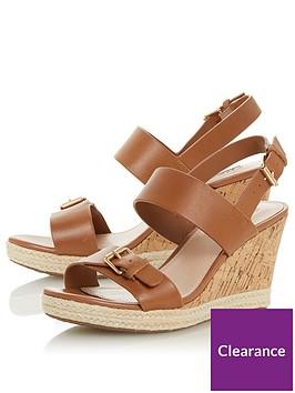 dune-london-kendyl-buckle-strap-wedge-sandal-tan