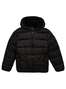 v-by-very-boysnbspschool-shower-proofnbsppadded-hooded-coat-black